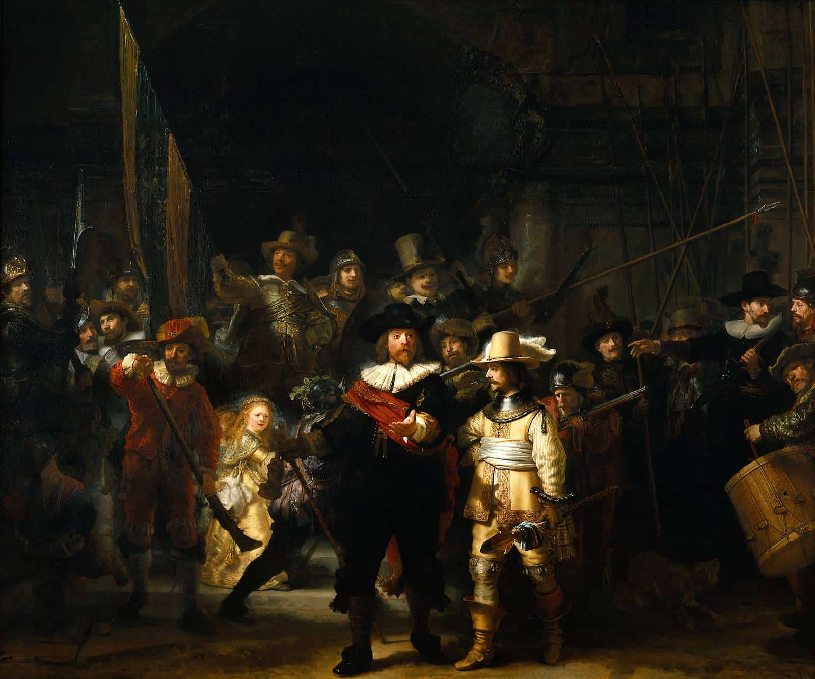 Flashmob Recreates Rembrandt's The Night Watch