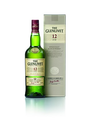 The Glenlivet 12YO Bottle Shot & Canister
