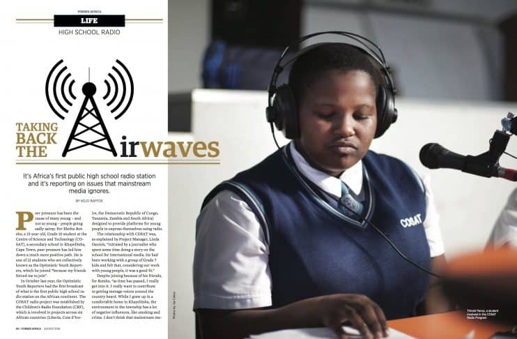 Forbes Africa: School Radio Taking Back The Air Waves